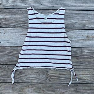 Forever 21 Striped Crop Tank Size Small